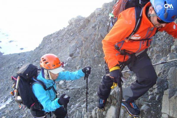 cățărare spre gouter