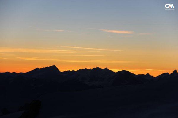 apus în alpi, mont blanc