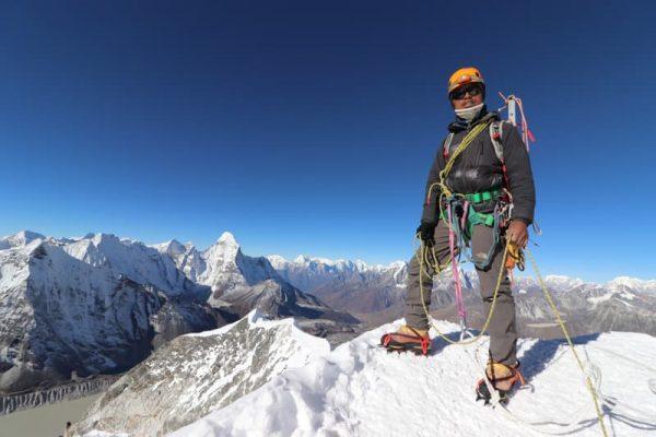 Sherpa pe Island Peak, Nepal