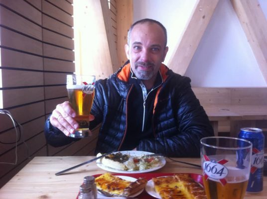 Prânz cu bere la Gouter, mont blanc