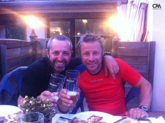 Costin Miu și Zsolt Torok, Les Houches, Mont Blanc
