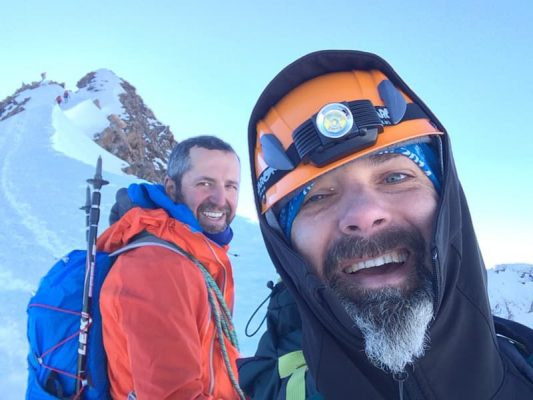 alpiniști pe monte rosa, elveția